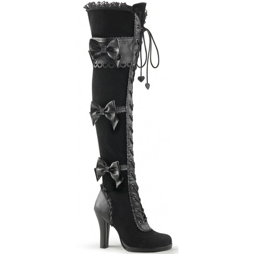 Glam Victorian Lace Gothic Over the Knee Boot at ShoeOodles Shoes for Women, Men and Children,  Oodles of Shoes for Men, Women & Children