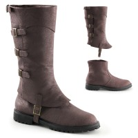 Gotham Detachable Shaft Brown Mens Boots