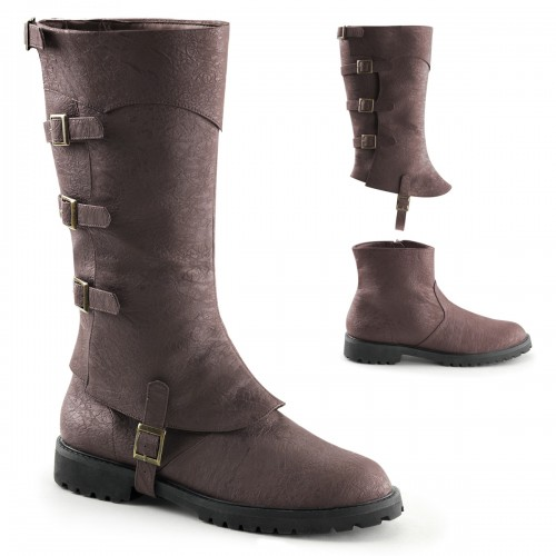 Gotham Detachable Shaft Brown Mens Boots at ShoeOodles Shoes for Women, Men and Children,  Oodles of Shoes for Men, Women & Children