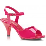 Hot Pink Belle 3 Inch Heel Sandal at ShoeOodles Shoes for Women, Men and Children,  Oodles of Shoes for Men, Women & Children