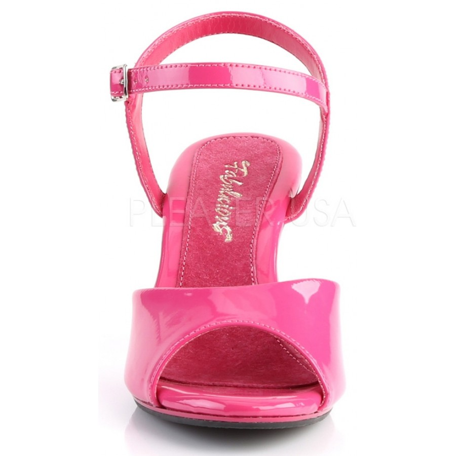 87c31714318 ... Hot Pink Belle 3 Inch Heel Sandal at ShoeOodles Shoes for Women