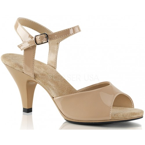 Nude Belle 3 Inch Heel Sandal at ShoeOodles Shoes for Women, Men and Children,  Oodles of Shoes for Men, Women & Children
