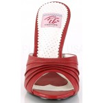 Monroe Red Pleated Vamp Slide at ShoeOodles Shoes for Women, Men and Children,  Oodles of Shoes for Men, Women & Children