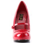 Cutie Pie Red Mary Jane Pin Up Pumps at ShoeOodles Shoes for Women, Men and Children,  Oodles of Shoes for Men, Women & Children