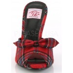 Monroe Red Plaid Slide with Bow