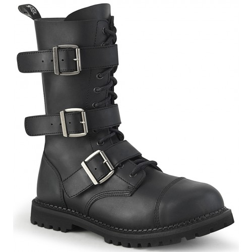 Riot 12 Mens Steel Toe Faux Leather Combat Boots
