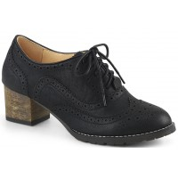 Russell Womens Wingtip Oxford in Black