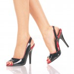 Red and Black Seduce Slingback Pump at ShoeOodles Shoes for Women, Men and Children,  Oodles of Shoes for Men, Women & Children