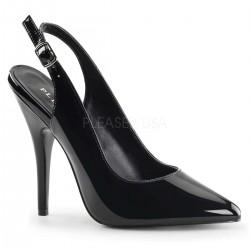 Black Seduce Slingback Pump ShoeOodles Shoes for Women, Men and Children  Oodles of Shoes for Men, Women & Children