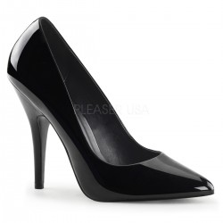 Black 5 Inch Heel Seduce Stiletto Pump