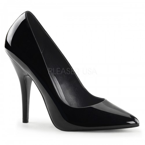Black 5 Inch Heel Seduce Stiletto Pump