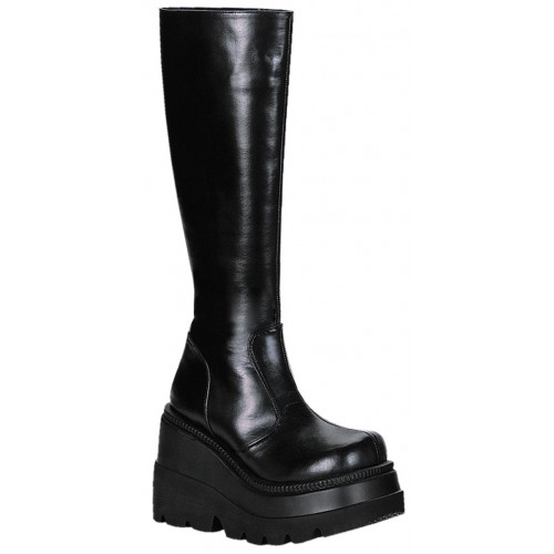 Shaker Platform Knee High Womens Boot at ShoeOodles Shoes for Women, Men and Children,  Oodles of Shoes for Men, Women & Children