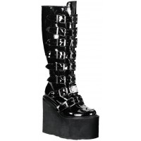 Swing Buckled Womens Platform Boots