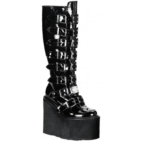 Swing Buckled Womens Platform Boots at ShoeOodles Shoes for Women, Men and Children,  Oodles of Shoes for Men, Women & Children