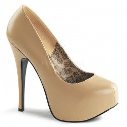 Teeze Tan Matte Platform Pump ShoeOodles Shoes for Women, Men and Children  Oodles of Shoes for Men, Women & Children