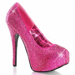 Teeze Hot Pink Rhinestone Platform Pump ShoeOodles Shoes for Women, Men and Children  Oodles of Shoes for Men, Women & Children