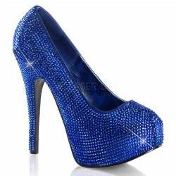 Teeze Royal Blue Rhinestone Platform Pump ShoeOodles Shoes for Women, Men and Children  Oodles of Shoes for Men, Women & Children
