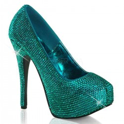 Teeze Turquoise Rhinestone Platform Pump ShoeOodles Shoes for Women, Men and Children  Oodles of Shoes for Men, Women & Children