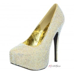 Teeze Gold Iridescent Rhinestone Platform Pump ShoeOodles Shoes for Women, Men and Children  Oodles of Shoes for Men, Women & Children