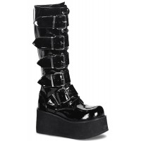 Trashville Buckled Up Unisex Patent Knee Boot