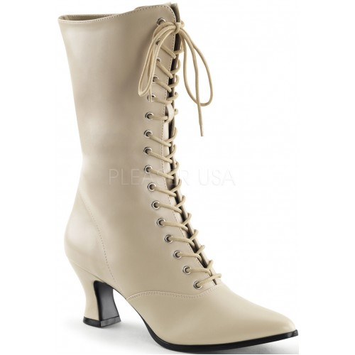 Cream Victorian Ankle Boot at ShoeOodles Shoes for Women, Men and Children,  Oodles of Shoes for Men, Women & Children