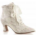 Victorian Jane Champagne Lace Ankle Boot at ShoeOodles Shoes for Women, Men and Children,  Oodles of Shoes for Men, Women & Children