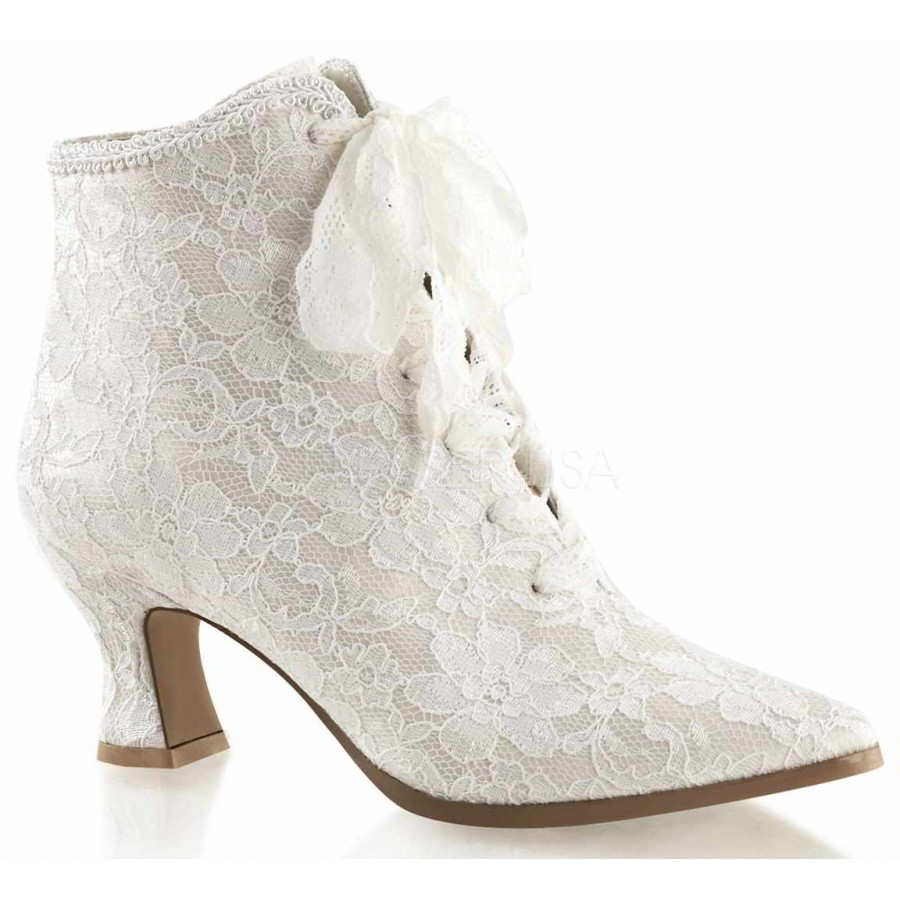 ivory lace victorian30 ankle boot low heel wedding shoes Victorian Jane Ivory Lace Ankle Boot at ShoeOodles Oodles of Shoes for Men Women