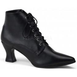 Black Victorian Ankle Bootie