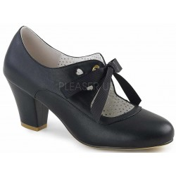 Wiggle Vintage Style Mary Jane Shoe in Black ShoeOodles Shoes for Women, Men and Children  Oodles of Shoes for Men, Women & Children