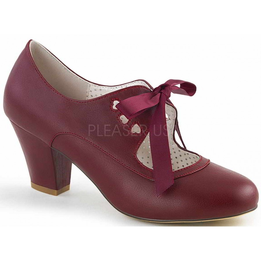 fantastic savings website for discount new release Wiggle Vintage Style Mary Jane Shoe in Burgundy