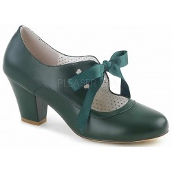 Wiggle Vintage Style Mary Jane Shoe in Forest Green ShoeOodles Shoes for Women, Men and Children  Oodles of Shoes for Men, Women & Children