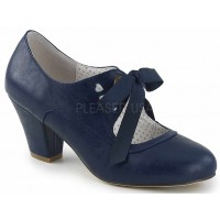 Wiggle Vintage Style Mary Jane Shoe in Navy Blue